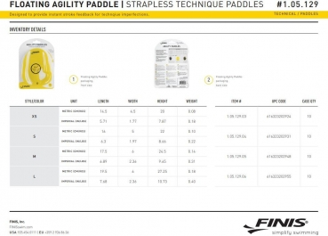 Finis Agility Floating Paddles, Extra Small (1.05.029.03) *ANGEBOT*