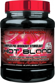 Scitec Nutrition Hot Blood 3.0, 820 g Dose, Blue Guarana