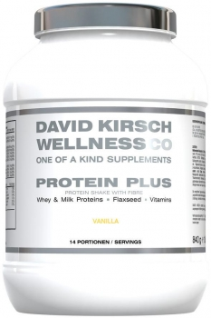 David Kirsch Wellness Co. Protein Shake Plus, 840 g Dose, Vanille