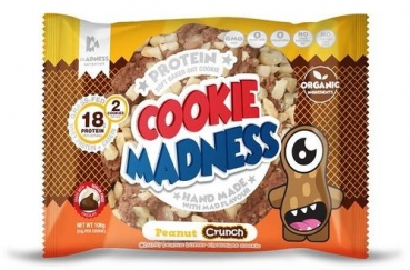 Cookie Madness Protein Cookie, 12 x 106 g, Peanut Butter Crunch