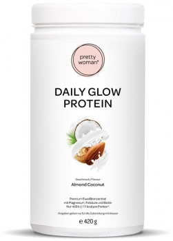 Pretty Woman Daily Glow Protein, 420 g Dose, Almond Coconut
