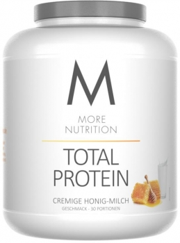 More Nutrition Total Protein, 1500 g Dose, Cremige Honig-Milch