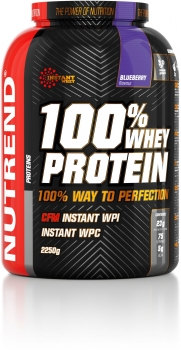Nutrend 100% Whey Protein, 2250 g Dose, Blueberry