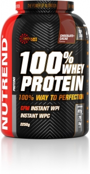 Nutrend 100% Whey Protein, 2250 g Dose, Chocolate + Cacao