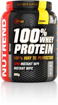Nutrend 100% Whey Protein, 900 g Dose (Banana)