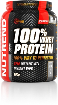 Nutrend 100% Whey Protein, 900 g Dose, Strawberry