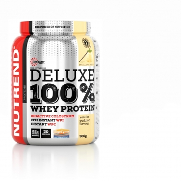Nutrend Deluxe 100% Whey, 900 g Dose (Vanilla Pudding)