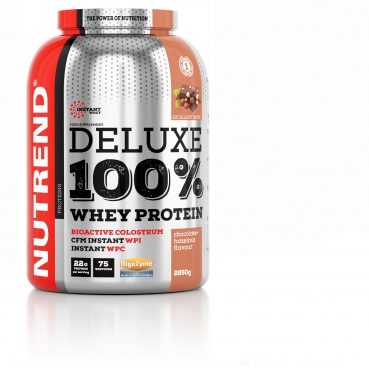 Nutrend Deluxe 100% Whey, 2250 g Dose (Chocolate Hazelnut)