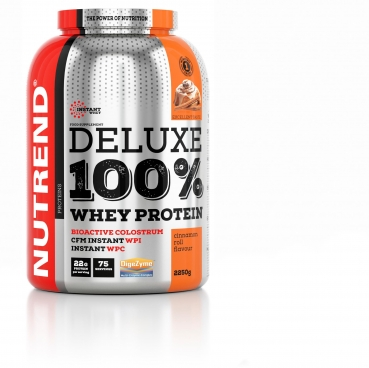 Nutrend Deluxe 100% Whey, 2250 g Dose (Cinnamon Roll)
