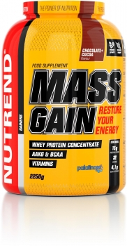 Nutrend Mass Gain, 2250 g Dose, Chocolate Cocoa