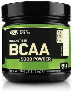 Optimum Nutrition Instantized BCAA 5000 Powder, 345 g Dose, Unflavoured