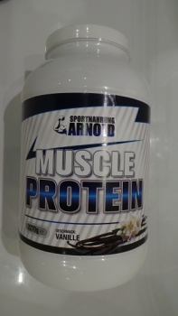 Sportnahrung Arnold - Muscle Protein Vanille, 2270g Dose *ANGEBOT*