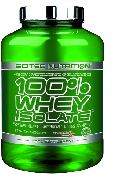 Sportnahrung Shop Arnold Scitec Nutrition 100% Whey Isolate, 2000 g Dose, Erdbeer