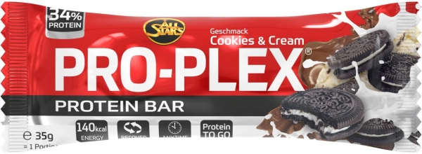 All Stars Pro-Plex, 32 x 35 g Riegel, Cookies & Cream