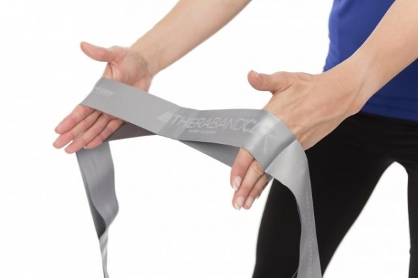 TheraBand CLX Rolle 22m super schwer (Farbe: silber)